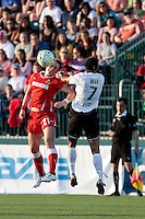 Brittany Bock (21) of the Western New York Flash and Shannon Boxx (7) of the magicJack during first half action. The Western New York Flash defeated the magicJack 3-0 in Women's Professional Soccer (WPS) at Sahlen's Stadium in Rochester, NY May 22, 2011.