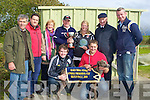 STAKES: Mrs Jingles with his owners and nominee and trainer after he won the Oak Trial Stakes at Kilflynn Coursing on Monday, Front l-r: Marins Kybartas (trainer) and Neville Morgan. Back l-r: Gerry and Seamus Barry, Joan Herbert,David Morgan (owner), Orna O'Neill, DJ Histon and Brendan Maunsell (owner)..........