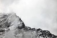 The shoulder of Bec des Rosses, above Cabane du Mont Fort, Switzerland.