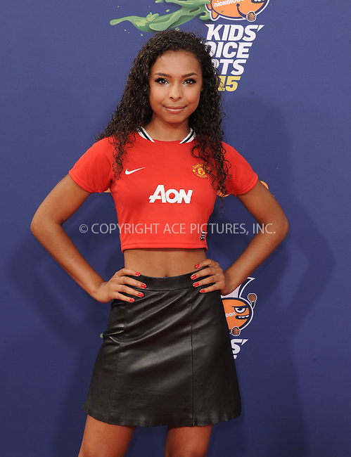 WWW.ACEPIXS.COM<br /> <br /> July 16 2015, LA<br /> <br /> Denisea Wilson arriving at the Nickelodeon Kids' Choice Sports Awards 2015 at UCLA's Pauley Pavilion on July 16, 2015 in Westwood, California.<br /> <br /> By Line: Peter West/ACE Pictures<br /> <br /> <br /> ACE Pictures, Inc.<br /> tel: 646 769 0430<br /> Email: info@acepixs.com<br /> www.acepixs.com