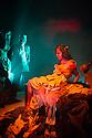 London, UK. 14.12.2012. Conspirators' Kitchen presents GOLGOTHA by Nirjay Mahindru. Directed by Iqbal Khan, the play runs from 14th November to 8th December 2012. Picture shows: Raj Ghatak (Shanks) and Anjana Vasan (Loretta). Photo credit: Jane Hobson.