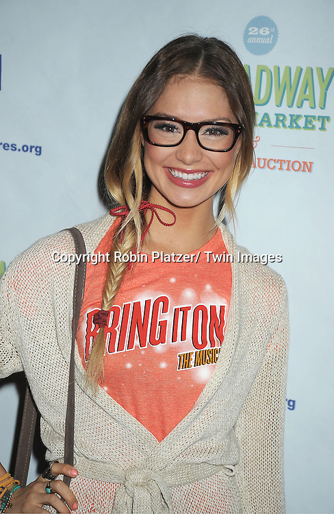 Elle McLemore attends the 26th Annual Broadway Flea Market and Grand Auction benefitting Broadway Cares/ Equity Fights Aids on September 23, 2012 at the Shubert Theatre in New York City.