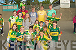 PUPILS: Pupils from 5th class Listellick NS who were obver the Moon as they got to hold the Sam Maguire Cup on Friday..