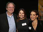 Douglas Aibel, Kathryn Erbe and Judy Kuhn attends The Vineyard Theatre's Emerging Artists Luncheon at The National Arts Club on November 9, 2017 in New York City.