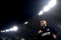 Mauro Icardi of Internazionale during the warm up prior the Serie A 2018/2019 football match between AS Roma and FC Internazionale at stadio Olimpico, Roma, December, 2, 2018 <br />  Foto Andrea Staccioli / Insidefoto