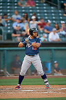 Yasmany Tomas (23) of the Reno Aces bats against the Salt Lake Bees at Smith's Ballpark on June 27, 2019 in Salt Lake City, Utah. The Aces defeated the Bees 10-6. (Stephen Smith/Four Seam Images)