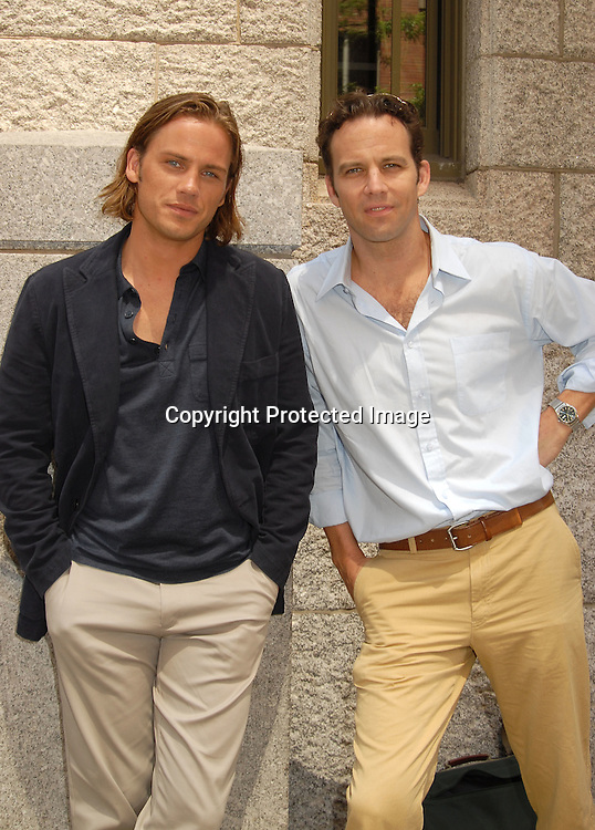 Forbes March and Robert Leeshock..outside One Life to Live on July 24, 2006 at the studio. ..Robin Platzer, Twin Images