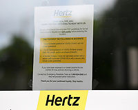CORAL SPRINGS, FL - MAY 23: Rental car giant Hertz files for bankruptcy protection Friday, saddled with about $19 billion in debt and nearly 700,000 vehicles during the COVID-19 pandemic on May 23, 2020 in Coral Springs, Florida.  Credit: mpi04/MediaPunch