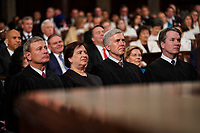 FEBRUARY 5, 2019 - WASHINGTON, DC: Supreme Court Justices John Roberts, Elena Kagan, Neil Gorsuch and Brett Kavanaugh  during the State of the Union address at the Capitol in Washington, DC on February 5, 2019. Photo Credit: Doug Mills/CNP/AdMedia