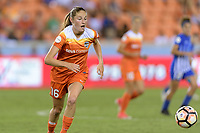 Houston, TX - Wednesday June 28, 2017: Janine Beckie chases after a loose ball during a regular season National Women's Soccer League (NWSL) match between the Houston Dash and the Boston Breakers at BBVA Compass Stadium.