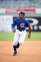 Jaren Shelby (33) of Tates Creek High School in Lexington, Kentucky playing for the Chicago Cubs scout team during the East Coast Pro Showcase on July 29, 2015 at George M. Steinbrenner Field in Tampa, Florida.  (Mike Janes/Four Seam Images)