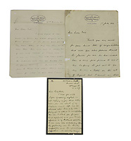 BNPS.co.uk (01202 558833)<br /> Pic: Sworders/BNPS<br /> <br /> Included in sale is a letter dated December 22, 1913 which Dr Atkinson sent to Lady Porter when gifting her and her husband the penguin.<br /> <br /> Pick up a penguin from the Heroic Age of polar exploration<br /> <br /> A stuffed penguin collected by scientists during the Captain Scott's infamous expedition of Antarctica has turned up for sale 107 years later.<br /> <br /> The taxidermy Adelie penguin stands at 18.5ins and is a relic of the Terra Nova voyage that took place between 1910 and 1913.<br /> <br /> The expedition's doctor Edward Leicester Atkinson brought it back to Britain and later gifted it to Sir James Porter and his wife.<br /> <br /> Sir James, who was a Surgeon Vice-Admiral in the Royal Navy, kept the flightless bird and passed it down through is family.