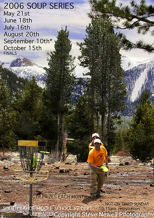 Event Poster for promoting local disc golf event/fundraiser that I ran for several years.