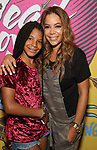 Sunny Hostin with daughter attends the Opening Night Performance of ''Head Over Heels' at the Hudson Theatre on July 26, 2018 in New York City.