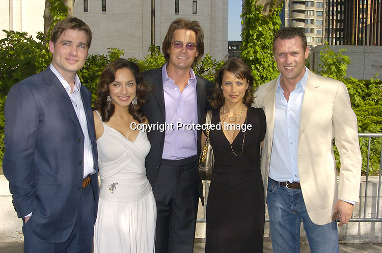 Cast of In Justice, Daniel Cosgrove, Constance Zimmer, Kyle MacLachlan,Larissa Gomes and Jason O'Mara ..at The ABC Upfront Announcement of Their Fall Schedule on May 17, 2005 at Lincoln Center...Photo by Robin Platzer, Twin Images
