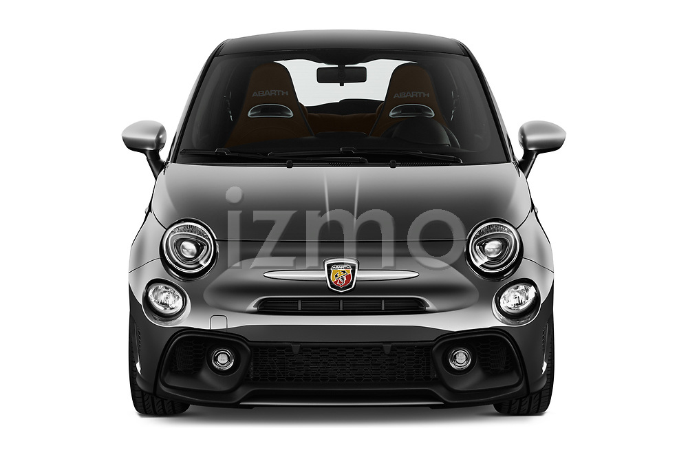 Car photography straight front view of a 2018 Abarth 595 Turismo 3 Door Hatchback