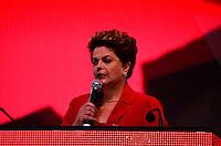 BRASÍLIA, DF, 21.06.2014 – CONVENÇÃO NACIONAL DO PT – A presidente Dilma Rousseff durante Convenção Nacional do PT para votação dos delegados para a reeleição da presidente Dilma Rousseff, realizada no Centro de Convenções Brasil 21, em Brasília, neste sábado, 21. (Foto: Ricardo Botelho / Brazil Photo Press)