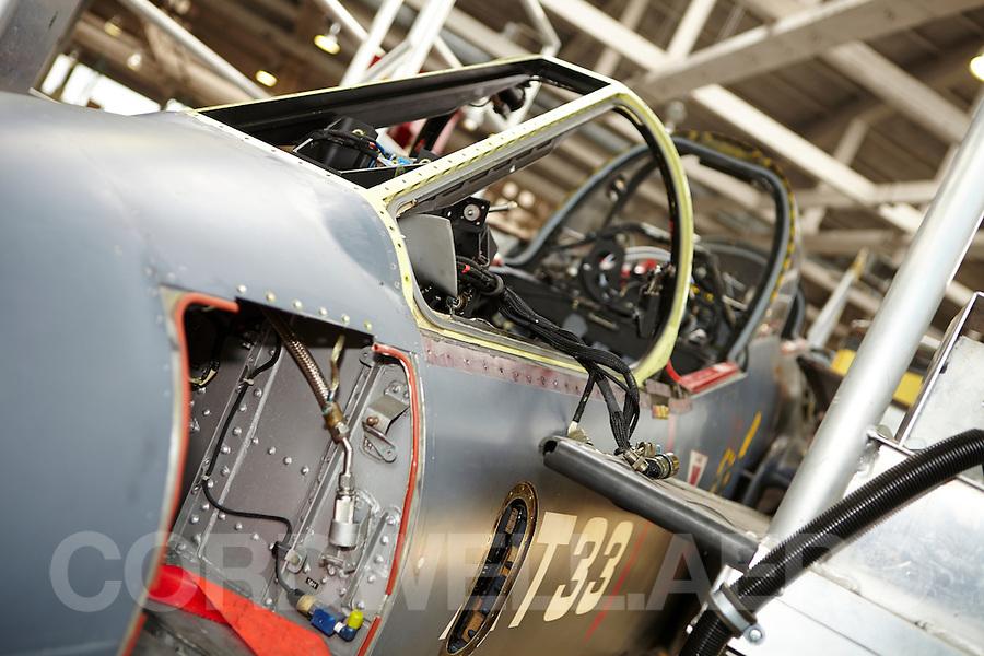 Dassault Breguet Dornier Alpha Jet Maintenance hangar interior