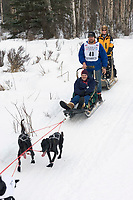 Robert Greger w/Iditarider on Trail 2005 Iditarod Ceremonial Start near Campbell Airstrip Alaska SC