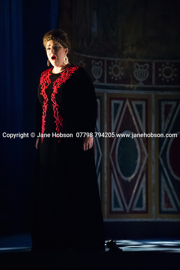 London, UK. 15.10.2014. English Touring Opera presents OTTONE, by George Frideric Handel, directed by James Conway, at the Hackney Empire. Picture shows:  Rosie Aldridge (Matilda). Photograph © Jane Hobson.