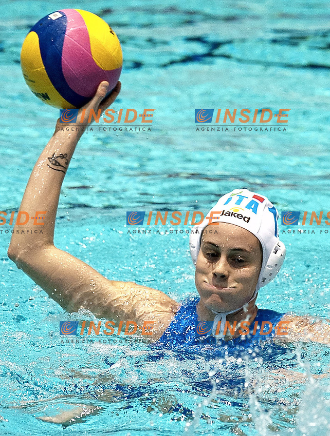 Eindhoven , Netherlands (NED) 20/1/2012.LEN European  Water Polo Championships 2012.Day 05 - Women.Italia (White) - Spain (Blue).I11 COTTI Aleksandra.Photo Insidefoto / Giorgio Scala