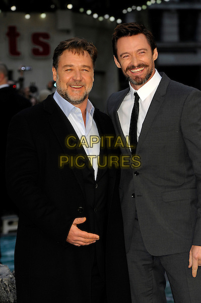 LONDON, ENGLAND - MARCH 31: Russell Crowe and Hugh Jackman attends the UK Premiere of 'Noah' at the Odeon Leicester Square on March 31, 2014 in London, England<br /> CAP/CJ<br /> &copy;Chris Joseph/Capital Pictures