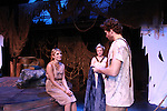 "Janine DiVita ""Penelope"", Emma Zaks ""Athena"", Josh A. Davis ""Odyssues"" - Opening Night of Odyssey - The Epic Musical starring Josh A. Davis, Emma Zaks and Janine DiVita and cast on October 23, 2011 at the American Theatre of Actors, New York City, New York. (Photo by Sue Coflin/Max Photos)"