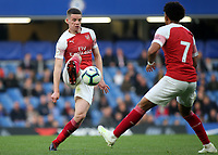 Robbie Burton of Arsenal in action during Chelsea Under-23 vs Arsenal Under-23, Premier League 2 Football at Stamford Bridge on 15th April 2019