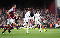 Barclays Premier League, West Ham V Swansea, 02/02/2013<br /> Pictured: (L-R) Miguel Michu, Ki Sung-Yueng.<br /> Picture by: Ben Wyeth / Athena