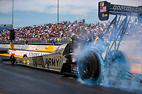Jul 29, 2018; Sonoma, CA, USA; NHRA top fuel driver Tony Schumacher during the Sonoma Nationals at Sonoma Raceway. Mandatory Credit: Mark J. Rebilas-USA TODAY Sports
