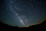 Night sky with the Milky Way over the Bodie Hills of California.