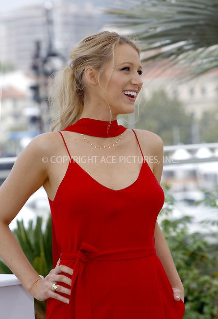 WWW.ACEPIXS.COM<br /> <br /> May 11 2016, Cannes<br /> <br /> Blake Lively attending the 'Cafe Society' photocall during The 69th Annual Cannes Film Festival on May 11, 2016 in Cannes, France<br /> <br /> By Line: Famous/ACE Pictures<br /> <br /> <br /> ACE Pictures, Inc.<br /> tel: 646 769 0430<br /> Email: info@acepixs.com<br /> www.acepixs.com