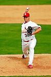 28 February 2007: St. Louis Cardinals pitcher Josh Hancock on the mound during a pre-season, Grapefruit League game against the Florida Marlins on Opening Day for Spring Training at Roger Dean Stadium in Jupiter, Florida. The Cardinals and Marlins share Roger Dean Stadium and the training facilities which opened in 1998 as a co-development between the Cardinals and the Montreal Expos.<br /> <br /> Mandatory Photo Credit: Ed Wolfstein Photo