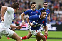 2nd February 2020, Stade de France, Paris; France, 6-Nations International rugby union, France versus England;  Teddy Thomas (France) runs into cover