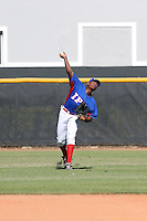 Jose Manuel Jule participates in the International Prospect League Showcase at the New York Yankees academy in Boca Chica, Dominican Republic on January 24, 2014 (Bill Mitchell)