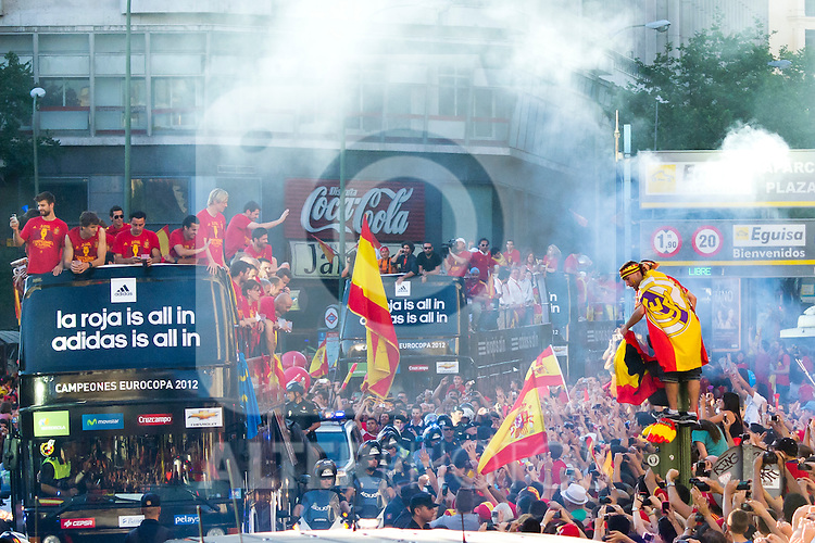 02.07.2012. Tour of Madrid of the Spanish football team to celebrate their victory in Euro 2012. (Alterphotos/Marta Gonzalez)