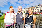 Pictured at the Tralee Tri Grand Prix Triathlon on Saturday morning were front l-r: Lorraine O'Halloran Liam Counihan and Amy Ní Chiardubháin (all Tralee)