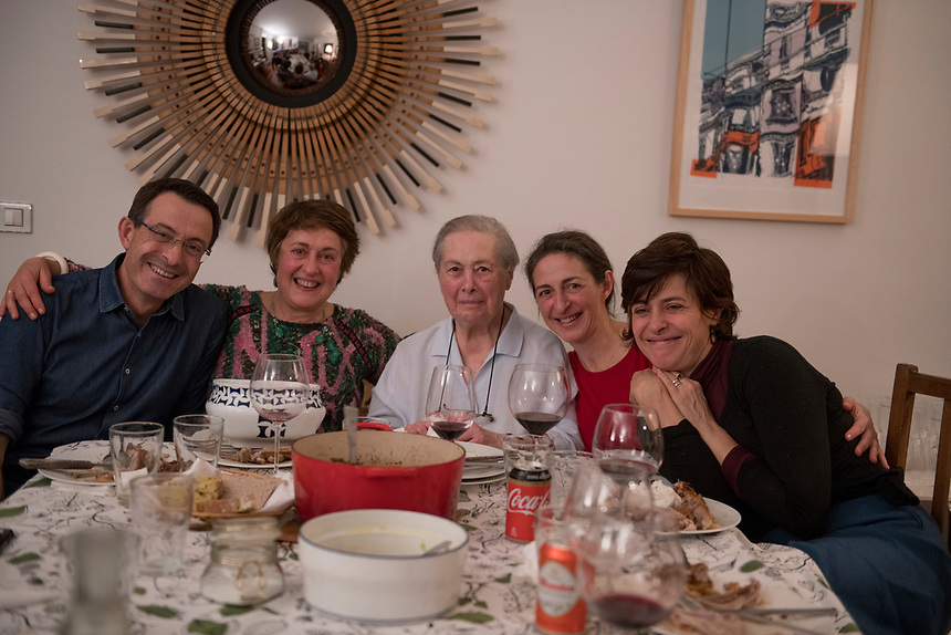 Goodbye dinner with the Angulo family in Paco and Eli's apartment. Las Arenas, Getxo, Bilbao, Spain