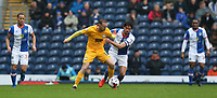 Preston North End's Aidan McGeady holds off the challenge from Blackburn Rovers' Jason Lowe<br /> <br /> Photographer Stephen White/CameraSport<br /> <br /> The EFL Sky Bet Championship - Blackburn Rovers v Preston North End - Saturday 18th March 2017 - Ewood Park - Blackburn<br /> <br /> World Copyright &copy; 2017 CameraSport. All rights reserved. 43 Linden Ave. Countesthorpe. Leicester. England. LE8 5PG - Tel: +44 (0) 116 277 4147 - admin@camerasport.com - www.camerasport.com