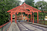 Historic Old Town Bridge, Gamle Bybro or Bybroa, Trondheim, Norway