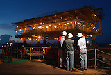 Plataforma maritima de la empresa Petrobras en Campos, frente a la costa de  Rio de Janeiro, Brasil