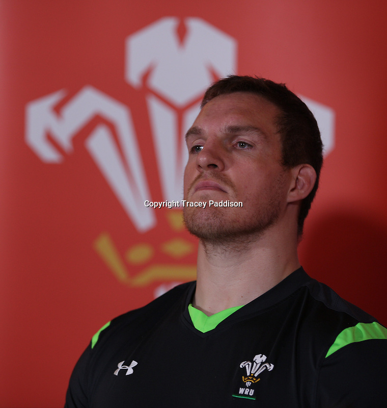 Tuesday 11 November 2014<br /> Pictured: Gethin Jenkins<br /> Re: Wales rugby union player Gethin Jenkins talks to the media at the Vale Resort Hotel in Hensol, Mid Glamorgan, Wales, United Kingdom on November 11, 2014, ahead of a rugby match against the Fiji national rugby team on November 15 at the Millennium Stadium.