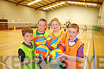 Having fun at the multi-sports camp in Moyvane last week from l-r were: Gearóid Stack, Kieran Swan, Conor Hogan and Mícheál Kissane.