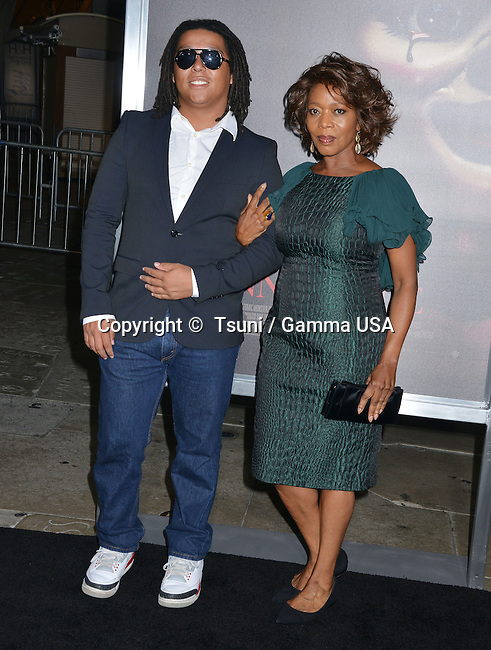 Alfre Woodard and son 831 at the Annabelle Premiere at the TCL Chinese Theatre in Los Angeles.