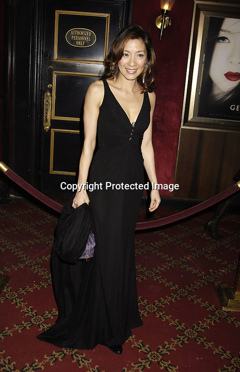 """Actress Michelle Yeoh ..arriving at The New York Premiere of """" Memoirs Of A Geisha""""  on December 6. 2005 at The Ziegfeld Theatre...Photo by Robin Platzer, Twin Images.."""