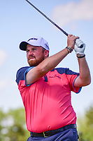 Shane Lowry (IRL) watches his tee shot on 12 during Thursday's round 1 of the 117th U.S. Open, at Erin Hills, Erin, Wisconsin. 6/15/2017.<br /> Picture: Golffile | Ken Murray<br /> <br /> <br /> All photo usage must carry mandatory copyright credit (&copy; Golffile | Ken Murray)