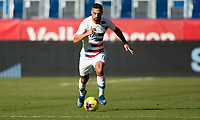 CARSON, CA - FEBRUARY 1: Sebastian Lletget #17 of the United States dribbles with the ball during a game between Costa Rica and USMNT at Dignity Health Sports Park on February 1, 2020 in Carson, California.