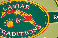 "Detail of a tin of caviar from Caviar and Traditions  ""Caviar et Prestige"" Saint Sulpice et Cameyrac  Entre-deux-Mers  Bordeaux Gironde Aquitaine France - at Caviar et Prestige"
