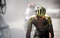 Robert Stannard (AUS/Mitchelton-Scott) eating dust<br /> <br /> 14th Strade Bianche 2020<br /> Siena > Siena: 184km (ITALY)<br /> <br /> delayed 2020 (summer!) edition because of the Covid19 pandemic > 1st post-Covid19 World Tour race after all races worldwide were cancelled in march 2020 by the UCI