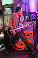NEW YORK, NY - SEPTEMBER 26:   Jack Barakat of All Time Low performing live at the MLB Fan Cave  in New York City. September 26, 2012. © Diego Corredor/MediaPunch Inc. /NortePhoto.com